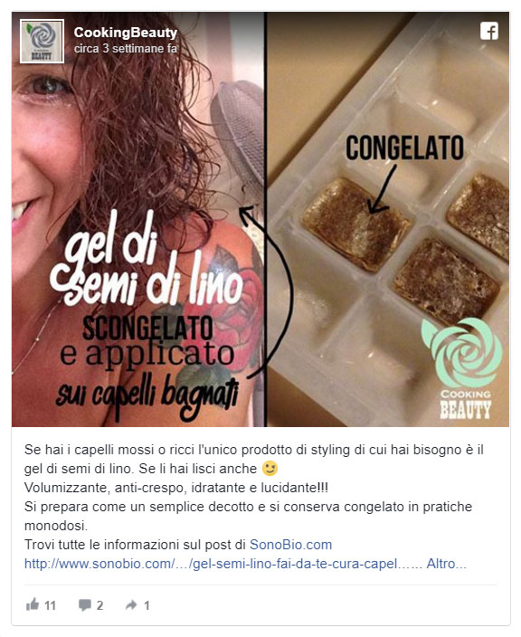 gel di semi di lino