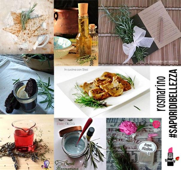 #SaporiDiBellezza - collage di ricette col rosmarino