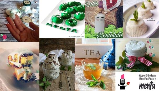Collage delle ricette per #SaporiDiBellezza - menta
