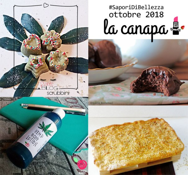 collage - ricette canapa