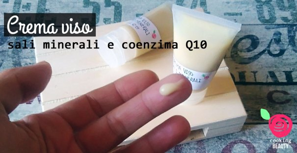 crema viso fai da te - sali minerali e coenzima Q10